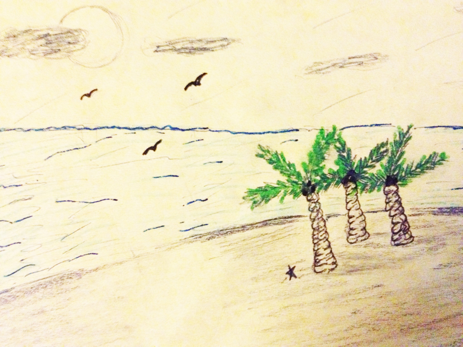 Sketch of a beach