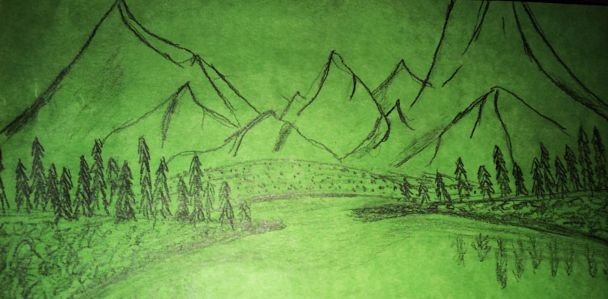 The Green Mountains Sketch