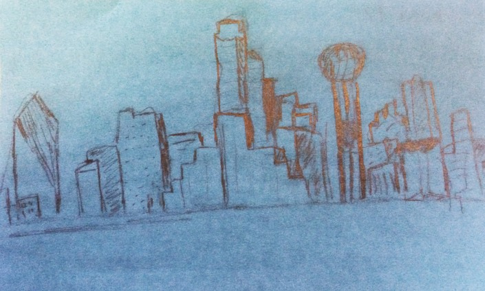 Downtown Dallas Sketch