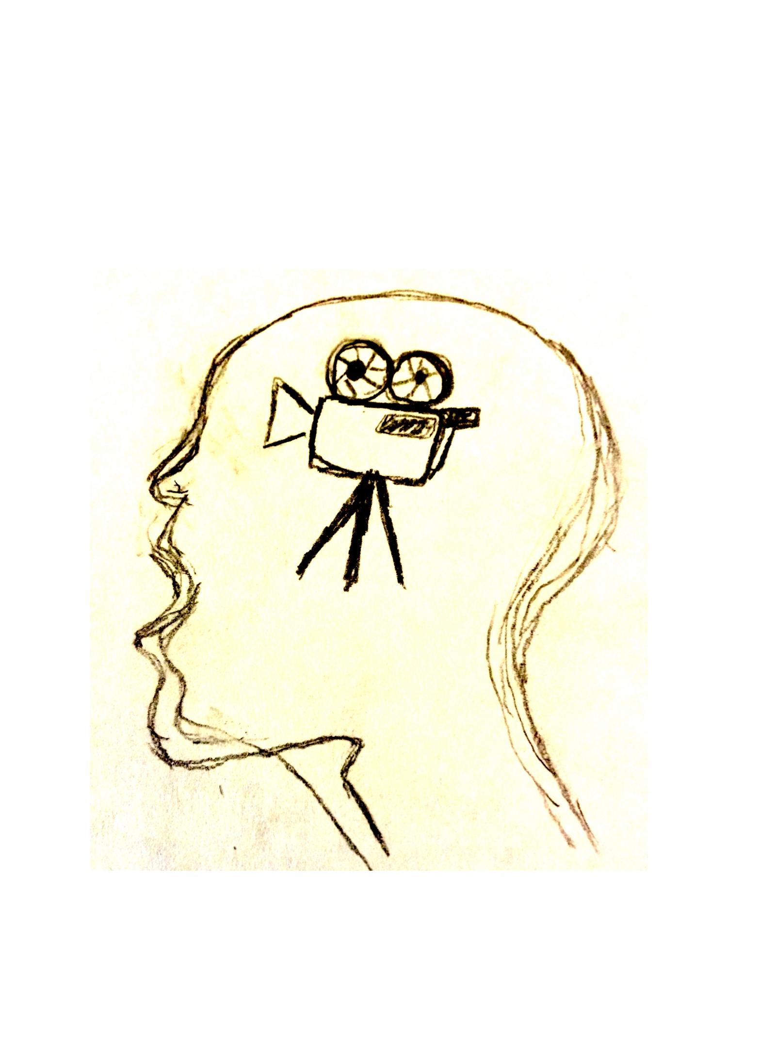 Sketch of a human head