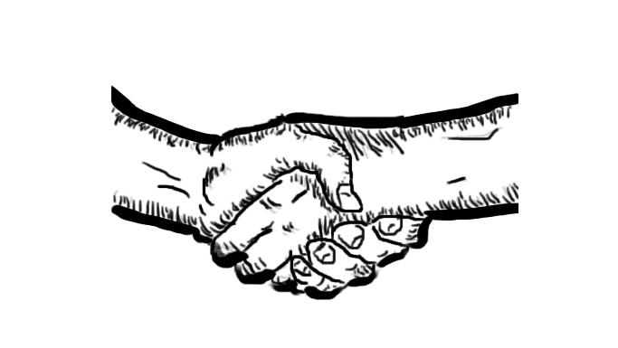 Handshake sketch