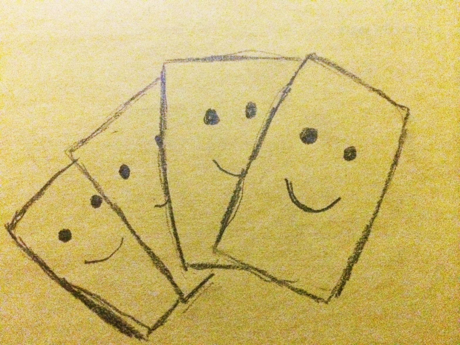 Sketch of a deck of cards