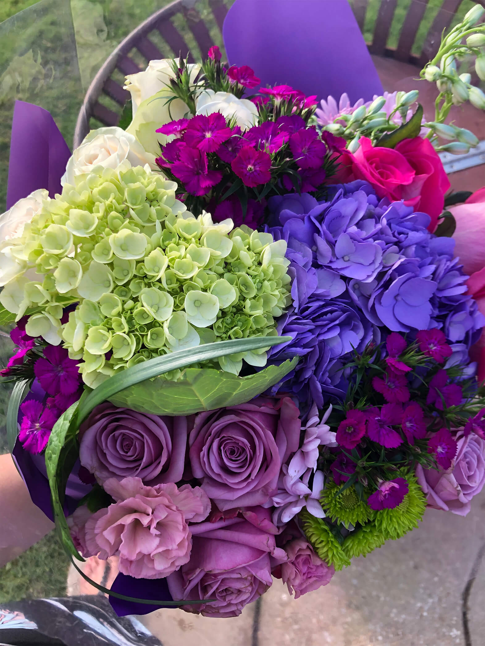 Close up of a flower bouquet